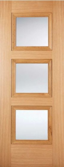 Amsterdam Oak Clear Glazed Pre-Finished Internal Door