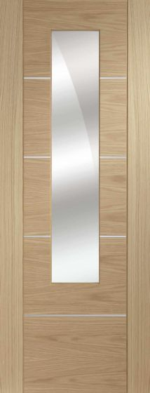 Portici Oak Mirror Glazed Pre-Finished Internal Door