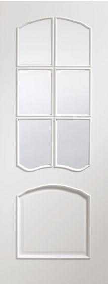 Riviera White Primed Bevel Clear Glazed Internal Door