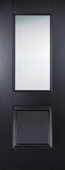 Arnhem Black Clear Glazed Internal Door