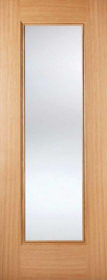 Eindhoven Oak Clear Glazed Pre-Finished Internal Door
