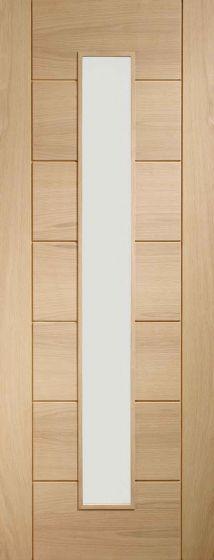 Palermo Oak Original 1 Light with Clear Glass Internal Fire Door FD30