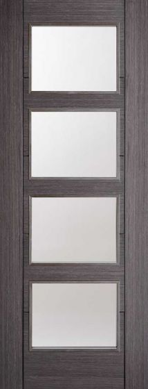Vancouver 4L Ash Grey Clear Glazed Internal door