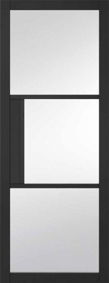 Chelsea Primed Black Clear Glazed Internal Door