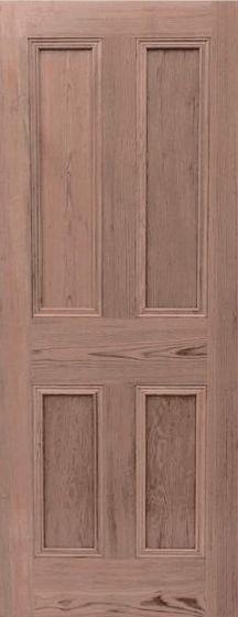 4 Panel Pitch Pine Internal Doors