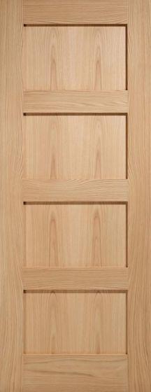 Contemporary Oak Shaker 4 Panel Internal Fire Doors