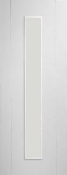 Forli White Pre-Finished With Clear Glass Internal Door