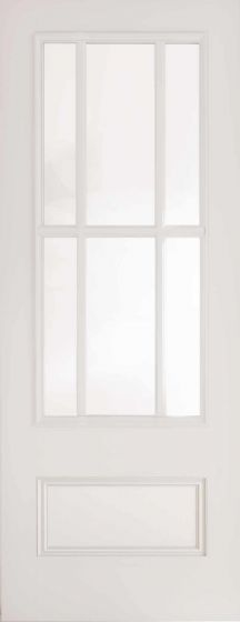 Canterbury White Primed Clear Glazed Internal Door