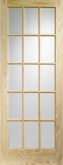 SA77 Clear Pine Clear Glazed Internal Door