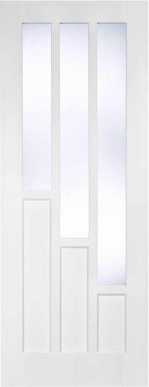 Coventry White Pre-Primed Clear Glazed Internal Doors