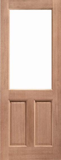 2XG Hardwood with Double Glazed Clear Glass External Door