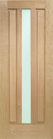 Padova Obscure Double Glazed Oak External Door