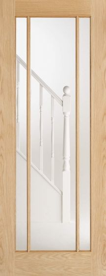 Lincoln Oak Pre-Finished Clear Glazed Internal Door