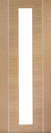 Forli Oak with Clear Glass Pre-Finished Internal Door