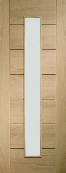 Palermo Oak Original 1 Light with Clear Glass Internal Door
