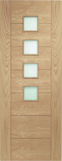 Palermo Oak Pre-Finished Obscure Glazed Internal Door