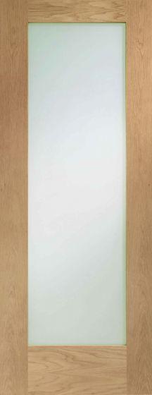 Pattern 10 Clear Glazed Oak Internal Door