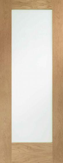 Pattern 10 Clear Glazed Oak Internal Fire Door FD30