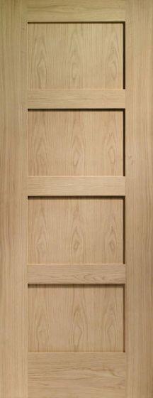 Shaker 4 Panel Pre-Finished Oak Internal Fire Door FD30