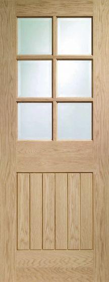 Suffolk Oak Original 6 Light with Bevelled Glass Internal Door