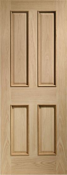 Victorian 4 Panel Oak Raised Mould Internal Door