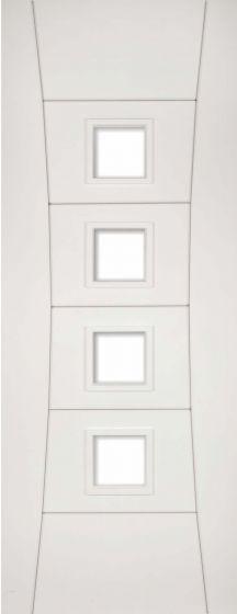 Pamplona White Pre-Primed Clear Glazed Internal Doors