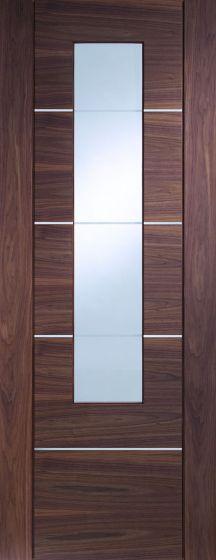 Portici Walnut Pre-Finished Glazed Internal Door