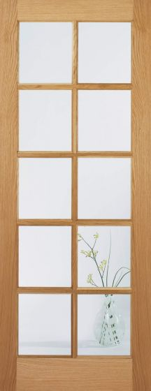 SA 10 Light Clear Glazed Oak Internal Doors