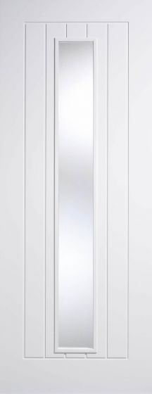 Mexicano Clear Glazed White Pre-Primed Internal Doors