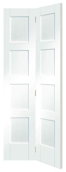 Shaker 4 Panel White Primed Bi-Fold Internal Door