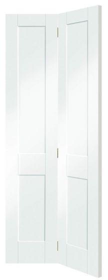 Victorian Shaker White 4 Panel Bi-Fold Internal Door