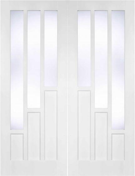 Coventry White Primed Clear Glazed Internal Pair