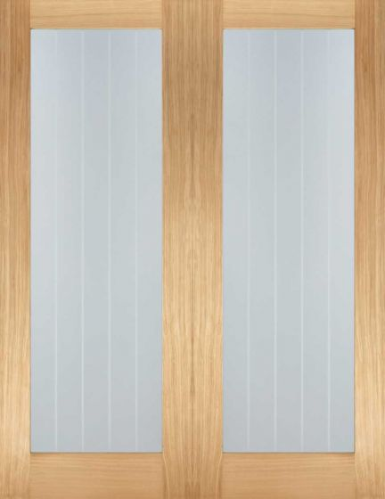 Mexicano Oak Glazed with Etched Lines Internal Pair