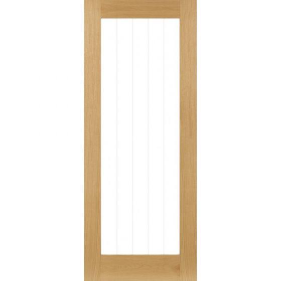 Ely Oak 1 Light Full Glazed Pre-Finished Internal Door