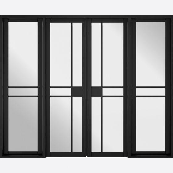 Greenwich Black W8 Room Divider