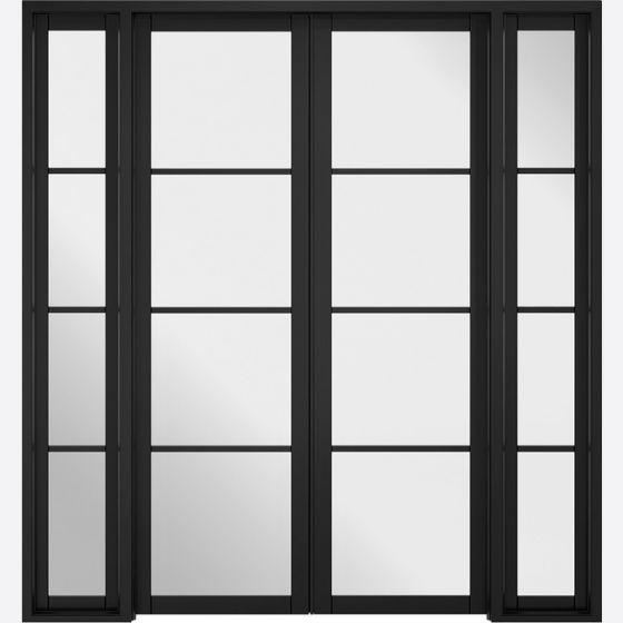 Soho Black W6 Room Divider