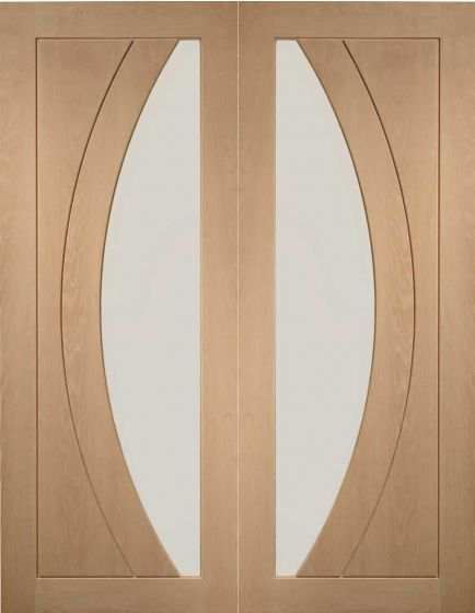 Salerno Oak with Clear Glass Internal Pair