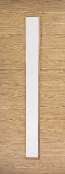 Lille Oak Pre-finished Clear Glazed Internal Door