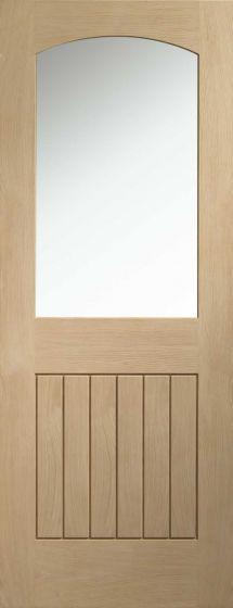 Sussex Oak with Clear Glass Internal Door