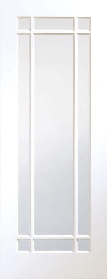 Cheshire White Primed Clear Glazed Internal Door