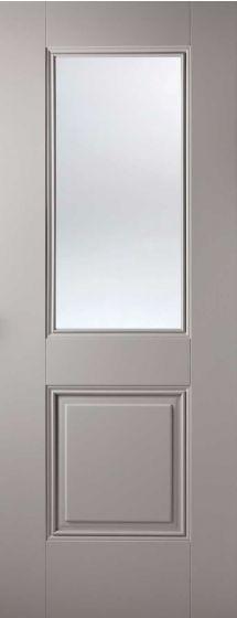 Arnhem Grey Clear Glazed Internal Door