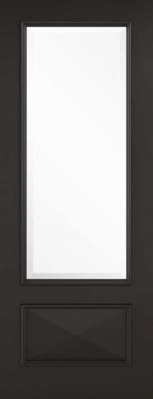 Knightsbridge Black Clear Glazed Internal Doors