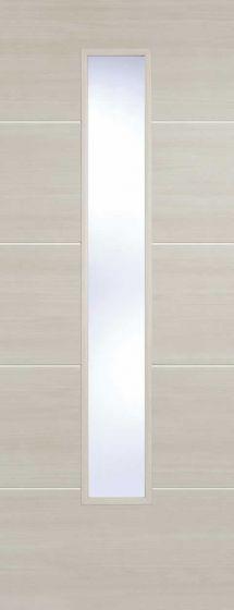 Santandor Ivory Laminate Clear Glazed Internal Door