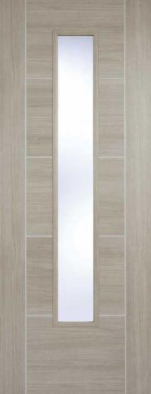 Vancouver Light Grey Laminate Clear Glazed Internal Door