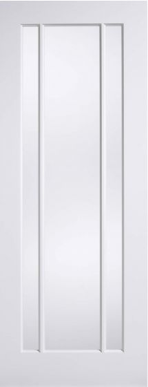 Worcester White Primed Clear Glazed 3 Panel Internal Door