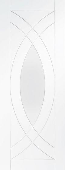 Treviso White Primed Clear Glazed Door