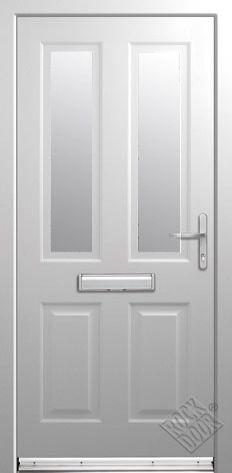 Jacobean Clear/Obscure Glazed ULTIMATE Composite Rockdoor
