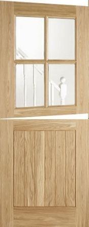 Stable 4 Light Cottage Double Glazed Oak External Doors