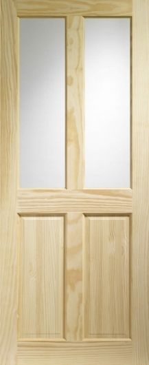 Victorian Clear Pine with Clear Glass Internal Door