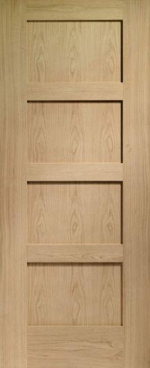 Shaker 4 Panel Oak Internal Door